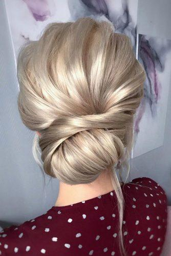 romantic bridal updos wedding hairstyles swept low blonde bun hair_vera