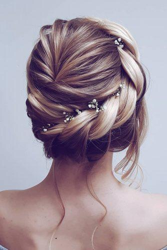 summer wedding hairstyles simple updo with swept side hairbyhannahtaylor