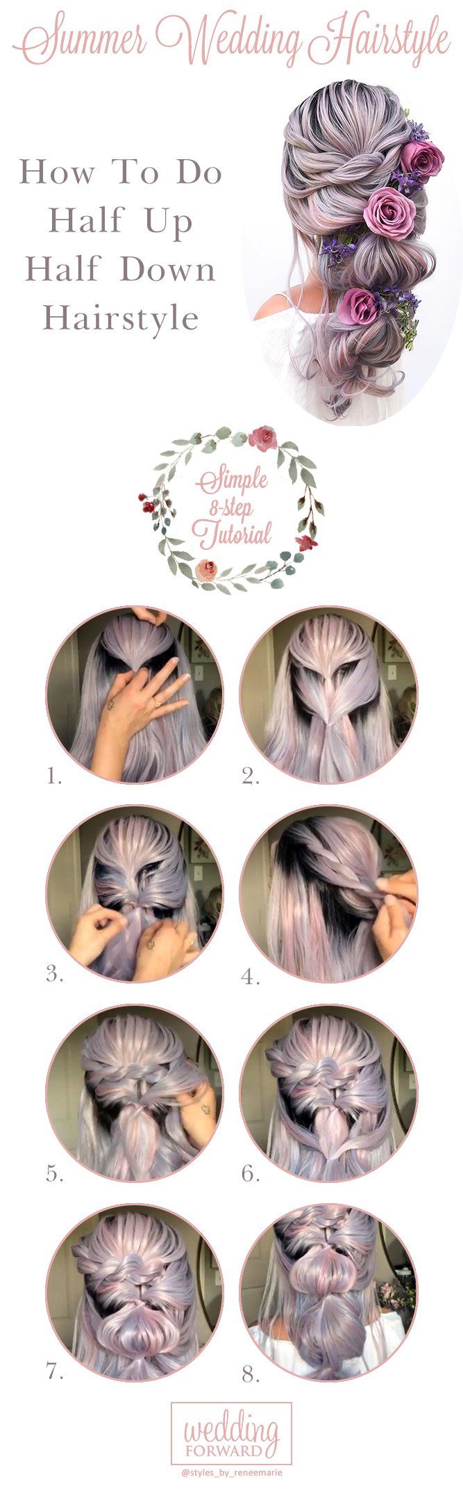 summer wedding hairstyles tutorial1