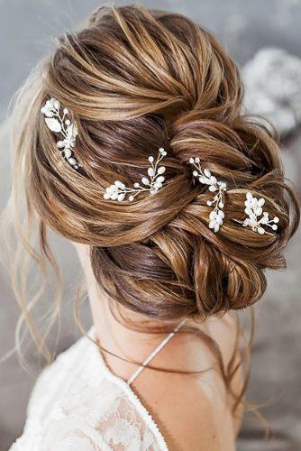 summer wedding hairstyles volume elegant updo with accessories elstilespb
