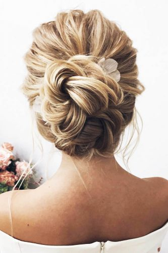 swept back wedding hairstyles trendy lenabogucharskaya