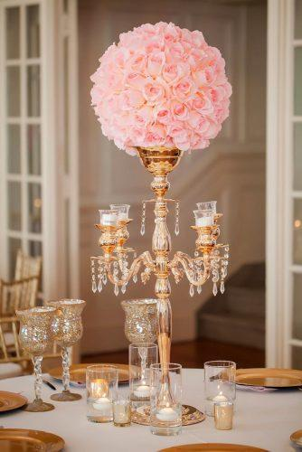 tall wedding centerpieces elegant candelabrum with flowers casey hendrickson photography