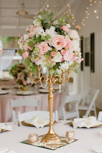 tall wedding centerpieces gold candelabrum with blush flowers crosscreekranchfl
