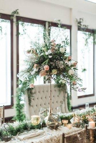tall wedding centerpieces minimalistic with greenery and flower tulip samantha jay photography