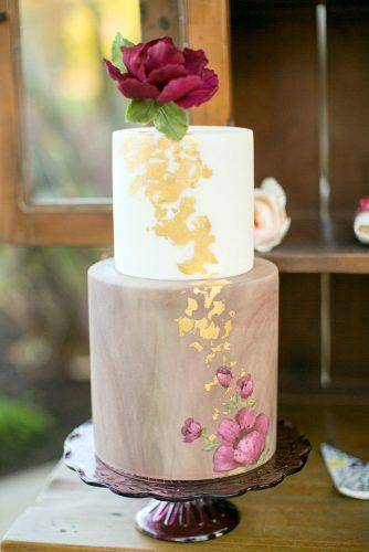 unique wedding cakes white and marble with flowers and gold decor sweet & saucy shop