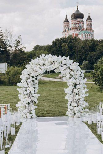 wedding arch decoration ideas all white with flowers hinhanni