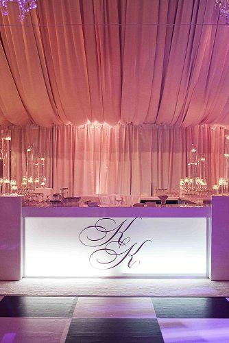 wedding monogram decor wedding bar