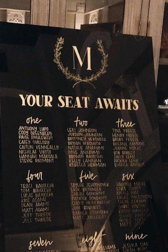 wedding monogram monogrammed seating chart