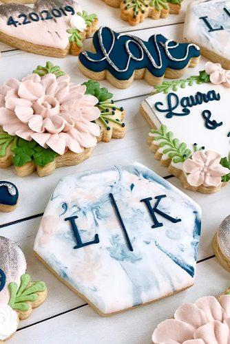 wedding monogram monogrammed wedding dessert