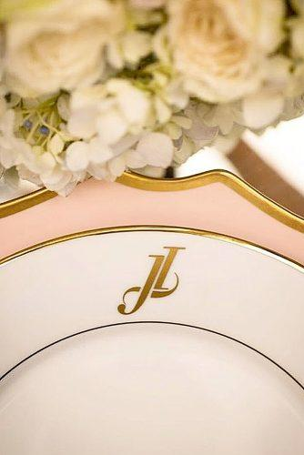 wedding monogram plate with monogram for wedding