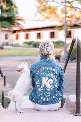 wedding monogram wedding jacket with monogram