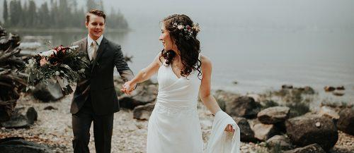 wedding photo checklist bride and groom happy together at the nature featured
