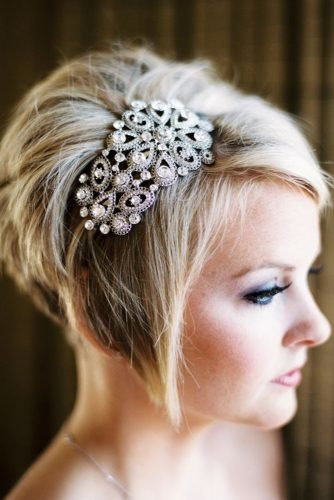 wedding updos for short hair pixie cut dazzling bridal headband mastin studio
