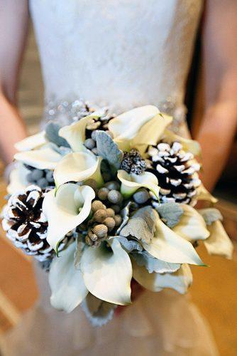 winter wedding bouquets white bouquet with cones life on prints