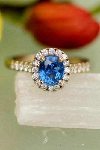 Precision cut sapphires and gemstones by Rogerio Graca Classic Blue Sapphire Halo Ring