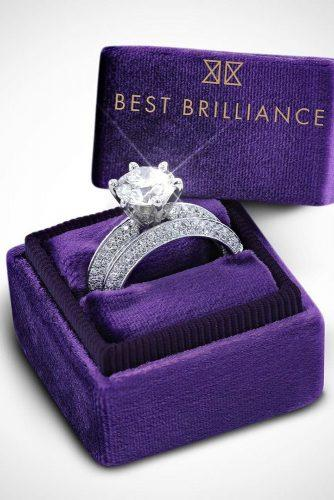 best brilliance engagement rings diamond round cut white gold wedding set