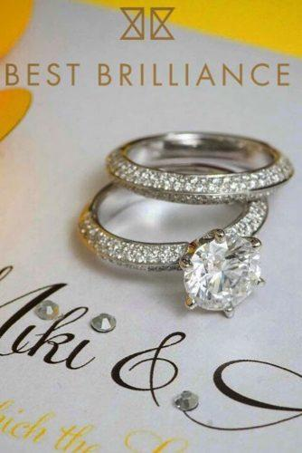 best brilliance engagement rings modern round cut diamond white gold