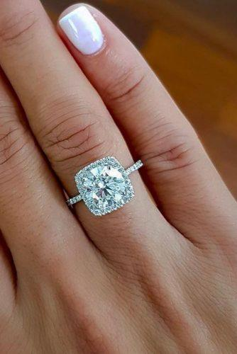 best brilliance engagement rings pave band diamond halo round cut