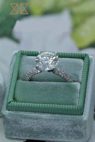 best brilliance engagement rings pave band white gold round cut