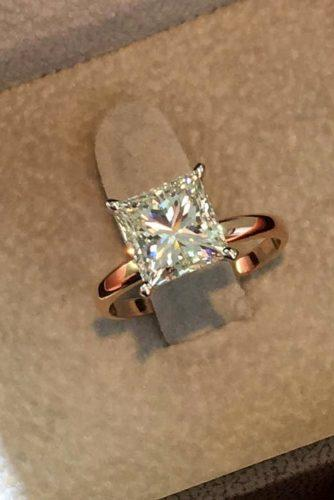 best brilliance engagement rings princess cut rose gold diamond solitaire