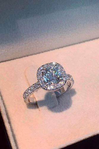 best brilliance engagement rings round cut diamond halo pave band white gold