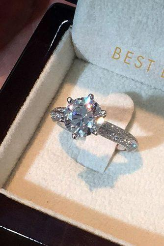 best brilliance engagement rings round cut diamond solitaire white gold