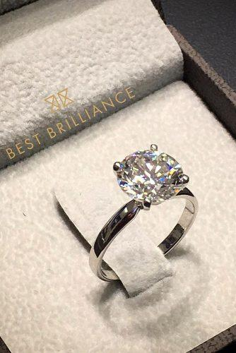 best brilliance engagement rings white gold solitaire diamond round cut solitaire