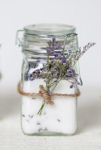 cheap wedding favors jar with lavender Sugar and Charm