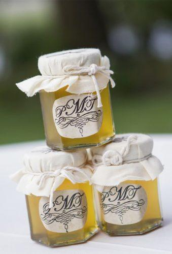 cheap wedding favors jars with honey Richard Ellis Photography