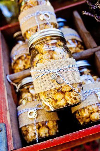 cheap wedding favors popcorn in jars riverwest