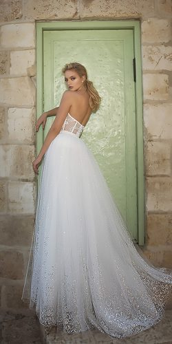 dany mizrachi wedding dresses a line strapless open back