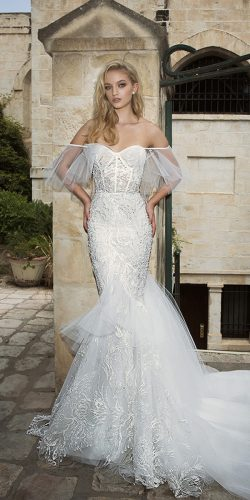 dany mizrachi wedding dresses mermaid off the shoulder lace