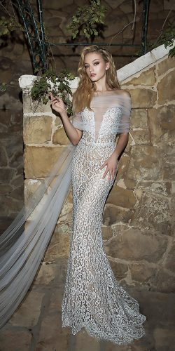 dany mizrachi wedding dresses sheath strapless v neckline