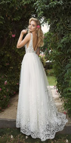 dany mizrachi wedding dresses straight lace open back with straps