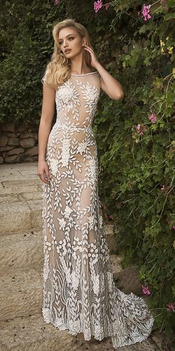 dany mizrachi wedding dresses straight vintage sleeveless