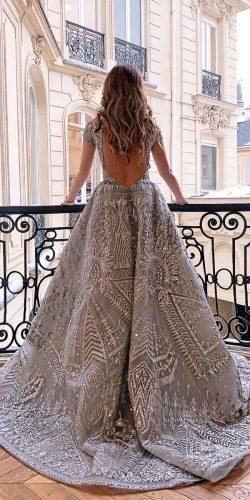 disney inspired wedding dresses a line low back with short sleeves colored zuhair murad official