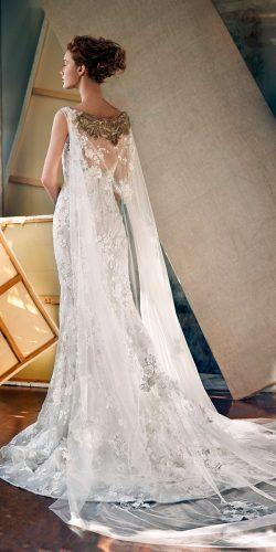 disney wedding dresses elsa sleeveless bateau neckline full embellishment elegant fit and flare v back lusan mandongus
