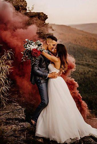 fall wedding photos couple in smoke authenticlovemag
