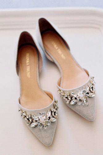 grey pastel with rhinestones flat wedding shoes charlotte jenks lewis