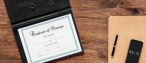 how to change your name marriage license