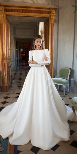 milla nova 2018 wedding dresses a line simple modern with long sleeves josephine1