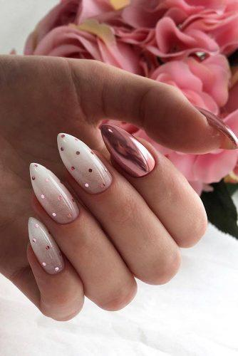 nail design wedding ombre with glitter decor deni_sova_nails