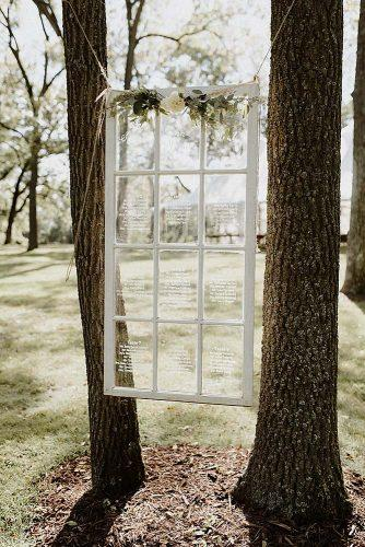 rustic backyard wedding decoration white window frame with signs on glass with white roses april violet photography