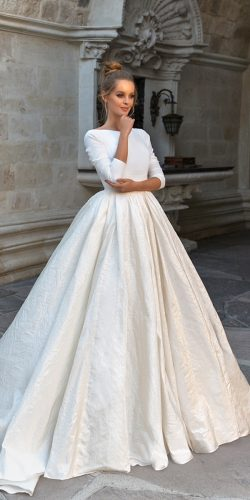 simple ball gown wedding dresses with sleeves eva lendel 2018 naomi