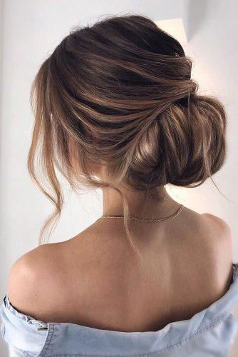 wedding hairstyles for medium hair elegant low bun medvedevatany