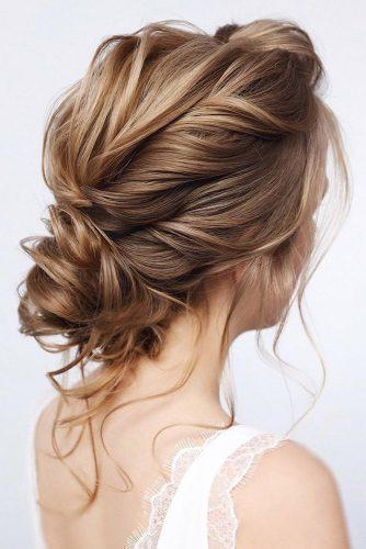 wedding hairstyles for medium hair elegant low curly updo with loose curls tonyastylist