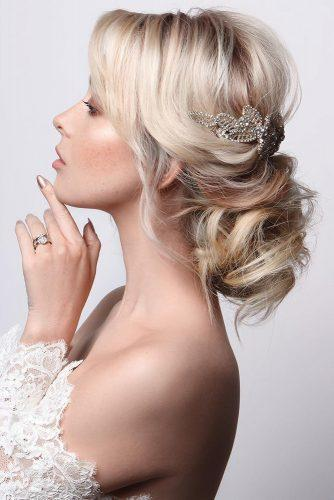 wedding hairstyles for medium hair volume low bun on blonde hair blushandmane