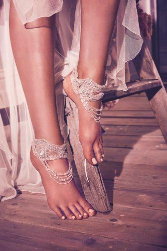 anna campbell bare foot boho hand beaded embellishment mahalia footcuffs