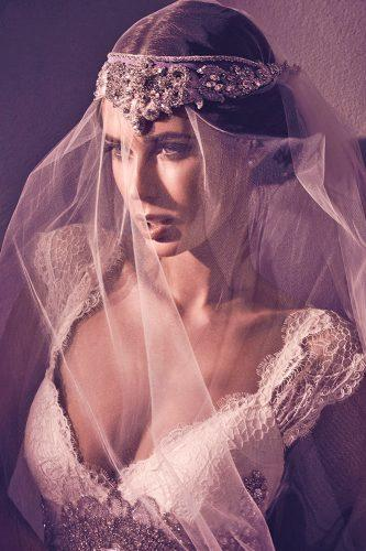 anna campbell wedding dresses bohemian circle hand beading blossom headpiece