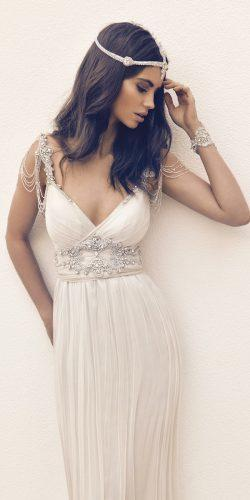 anna campbell wedding dresses straight flowing silk tull skirt shimmering embellishment hand beaded shoulder loops amy